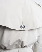 Burberry London Beige Short Ruffle Belted Trench Coat Jacket - 10