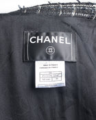 Chanel 2008 Cruise Black Tweed Fringe Jacket with Gold Thread