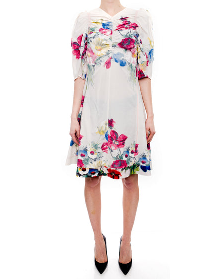 Celine Resort 2017 White Floral A-Line Dress