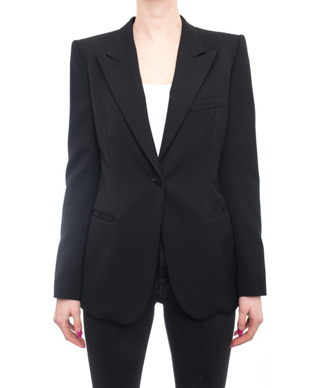 Balmain Black Classic Fitted Blazer Jacket - 38