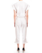 Chloe Resort 2013 White Cotton Ruffle Jumpsuit - 4