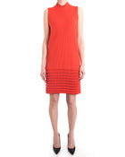 Maison Rabih Kayrouz Orange Knit Sleeveless Shift Dress - 6