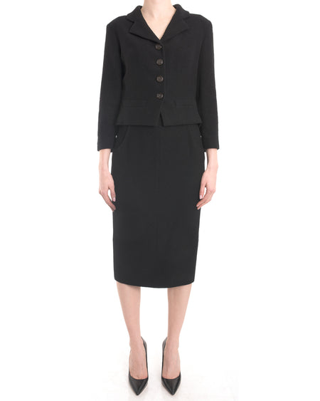 Chanel 2012 Cruise Black Fitted Skirt Suit - 38 / 6