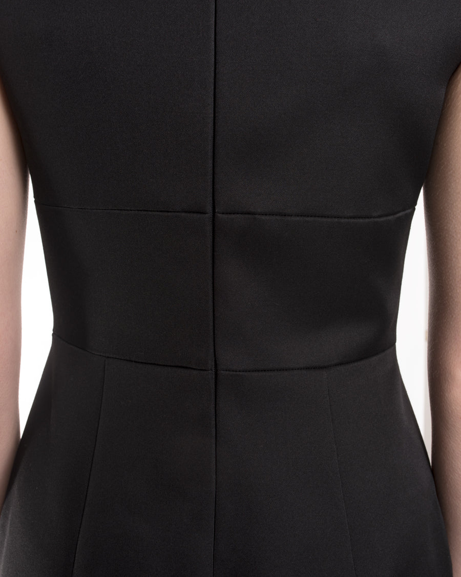 Prada 2017 Black Sleeveless Cocktail Dress with Ruffle Hem - 2