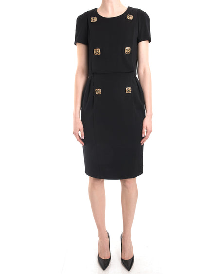 Chanel 2011 Pre-Fall Byzantine Collection Black Jewel Button Dress - 38 / 6