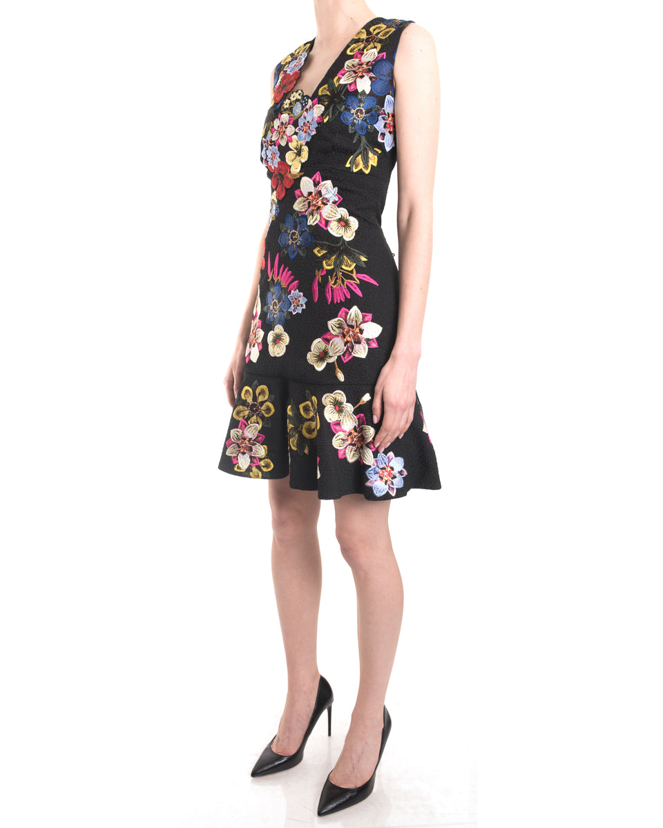 Erdem Resort 2016 Floral Applique Kim Cocktail Dress - 6