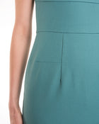Roland Mouret Blue Stretch Cotton Bodycon Wiggle Dress - 6