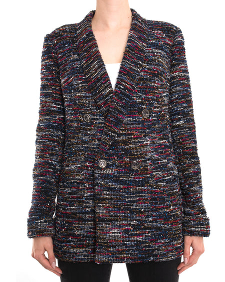 Chanel 2015 Spring Runway Multi Tweed Blazer Jacket - 38