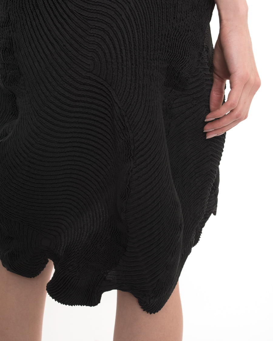 Issey Miyake Black Sleeveless Avant Garde Dress - M