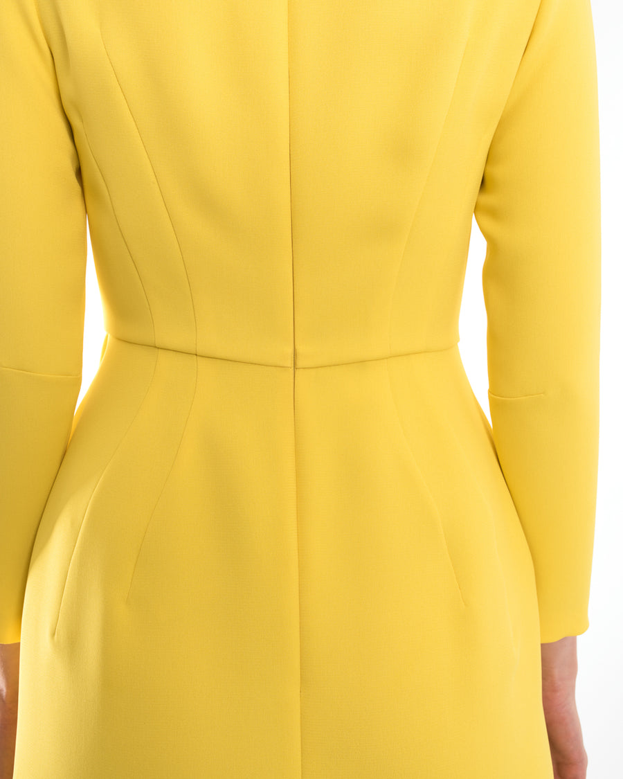 Vika Gazinskaya Yellow Fitted Cocktail Wiggle Dress - 36 / 4