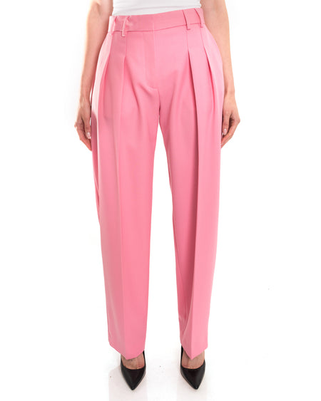 Victoria Beckham Bubblegum Pink Pleated Trouser - S