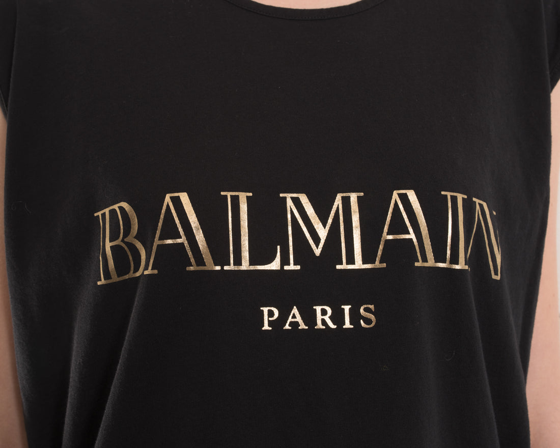 Balmain Gold Logo Tank with Gold Buttons - 8
