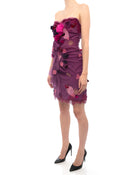 Dolce Gabbana Strapless Purple Ruched Corset Dress - S