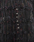 Chanel 2006 Resort Long Dark Purple / Black Tweed Jacket - 42 / 10