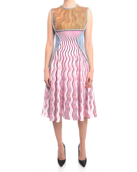 Mary Katrantzou Pre-Fall 2016 Pink Geometric Sleeveless Dress - 8