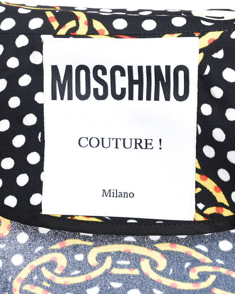 Moschino Couture Fall 2018 Runway Chain Link Logo Dress - 2/4