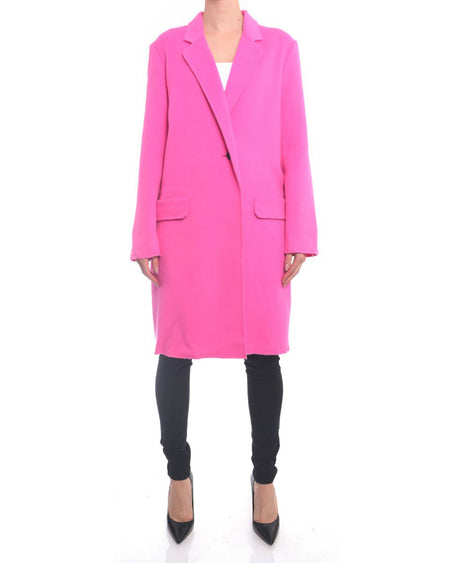 Helmut Lang Pink Wool Oversized Statement Coat - S