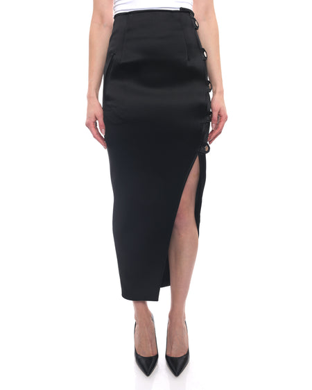 Anthony Vacarello Fall 2014 Satin High Slit Midi Pencil Skirt