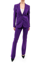 Gucci Purple Pants Suit with Flora and Fauna Lining