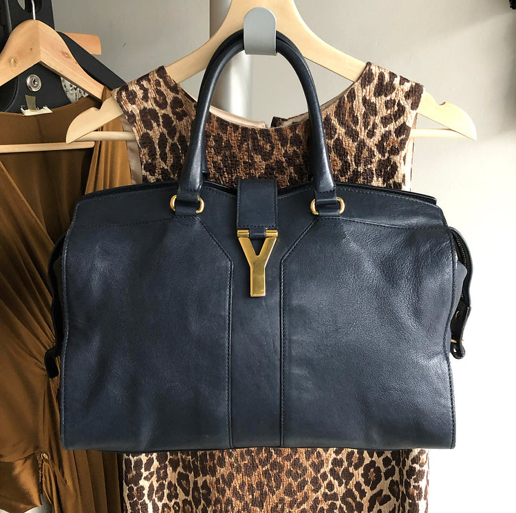 YSL Yves Saint Laurent Midnight Navy Y Line Bag – I MISS YOU VINTAGE fb4a15c672297