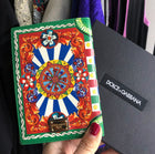 Dolce and Gabbana Green and Yellow Passport Holder