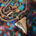 Givenchy Large Gold Shark Tooth Necklace