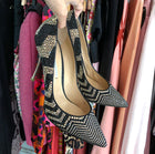 Nicholas Kirkwood Black and Gold Zig Zag Strass Crystal Pump - 10