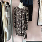 Marni Wool Brown and White Graphic Op Art Flare Detail Coat - 38 / 6