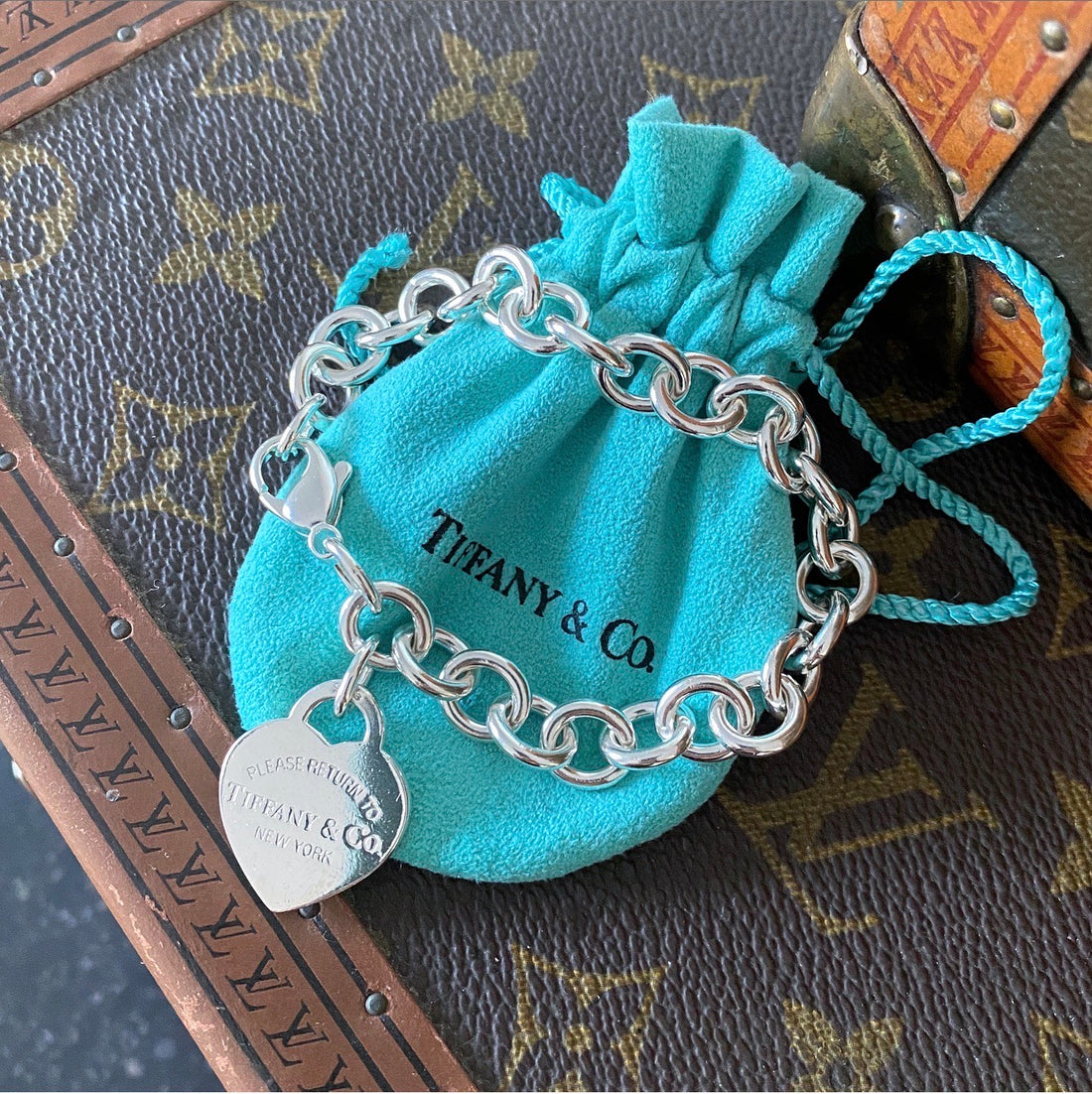 Tiffany and Co. Sterling Silver Return to Tiffany Heart Tag Bracelet