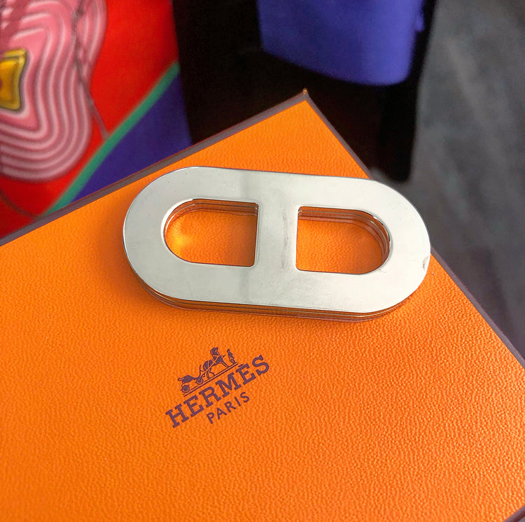 Hermes Chaine D'Ancre Recto Bicolor Scarf Ring