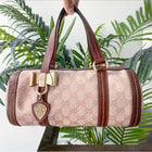 Gucci Crystal Coated Monogram Small Duchessa Boston Bag