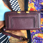 Chloe Marcie Dark Velvet Continental Zipper Wallet