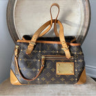 Louis Vuitton Monogram Small Zippered Riveting Tote Bag