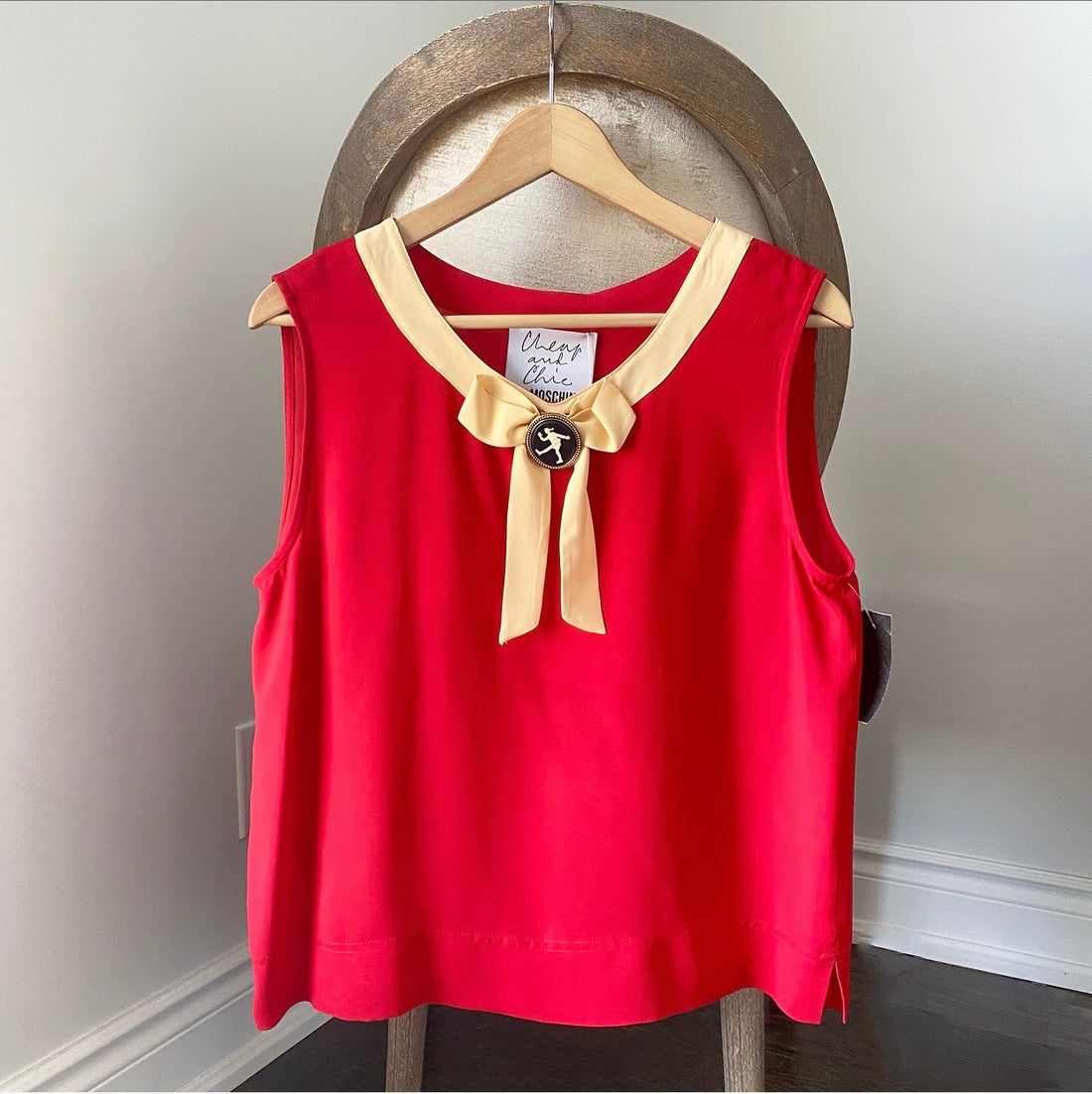 Moschino Cheap & Chic Red Tank with Cameo Detail - IT46 / L