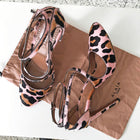 Alaia Pink and Black Leopard Pony High Heel Sandals - 38.5