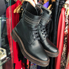 Brunello Cucinelli Black Lace Up Combat Ankle Boots - 6