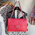 Chanel Hot Pink Quilted Maxi Single Flap Bag