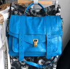 Proenza Schouler PS1 Turquoise Blue Leather Large Messenger Bag