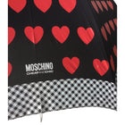 Moschino Cheap and Chic Black and Red Heart Umbrella