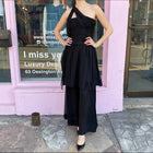 Chanel Strapless Black Silk Chiffon Palazzo Jumpsuit – 38 / 6
