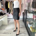 Proenza Schouler White Label Black Leather Aline Mini Skirt - 6