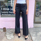 Gucci Black Wool Wide Leg Low Waist Trouser with Buttons - IT42 / M