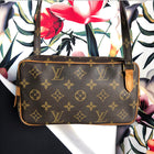 Louis Vuitton Vintage 1985 Marly Bandouliere Monogram Crossbody Bag