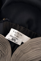Lanvin Spring 2007 Black Silk Bubble Dress with Pintuck Pleated Straps