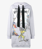 Moschino Couture by Jeremy Scott Grey Hooded Mouse-chino Dress