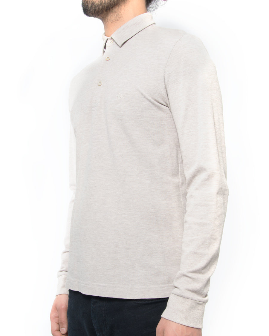 Dior Homme Light Beige Long Sleeve Polo Shirt
