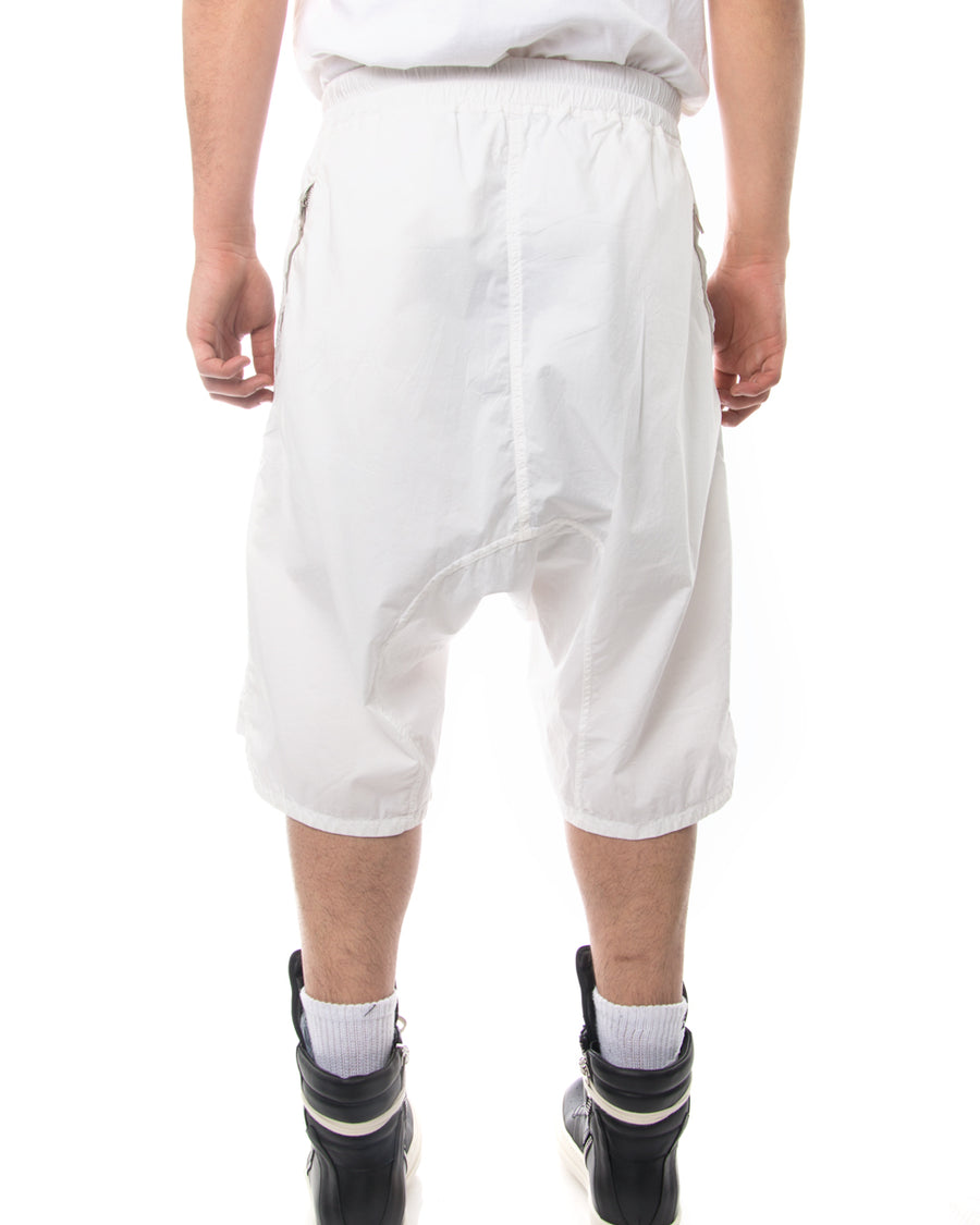 Rick Owens DRKSHDW White Shorts with Elastic Waistband - M