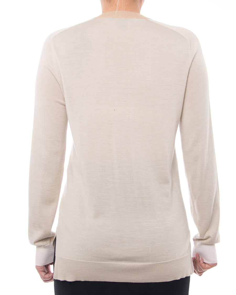 Louis Vuitton Beige Two Tone Cashmere Blend Pullover Knit Top - 6