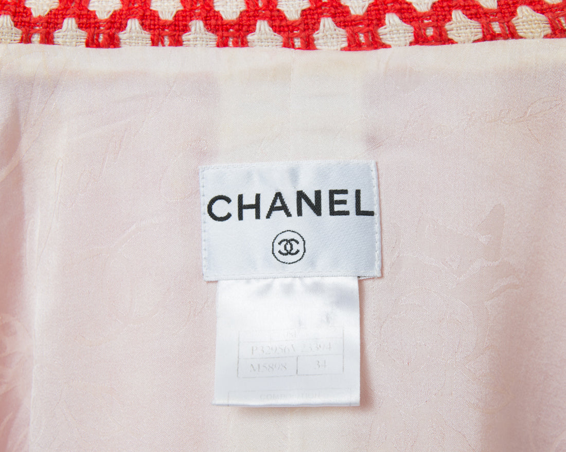 Chanel Spring 2008 Runway Red Zip Front Dress / Coat - FR34 / XS