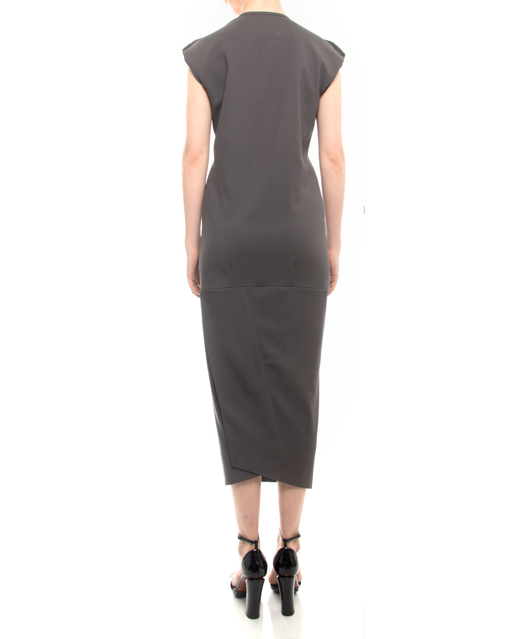 Rick Owens Slate Grey Island SS13 Pillar Midi Dress - USA 2